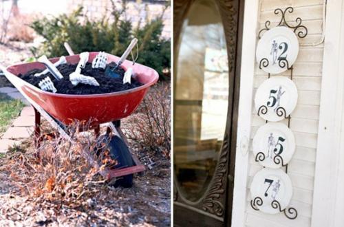 außenbereich deko halloween ideen selber machen DIY wandspiegel