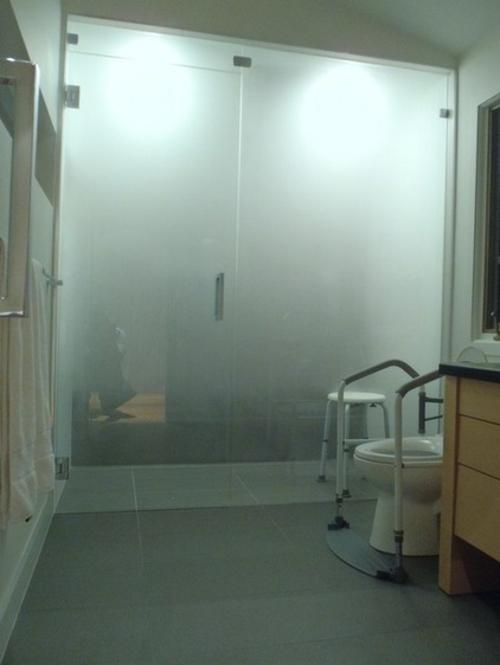 bad fliesen richtig verlegen duschkabine mit glastür