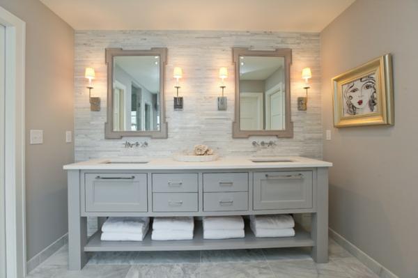 badezimmer design mit fliesen moderne wandkunst