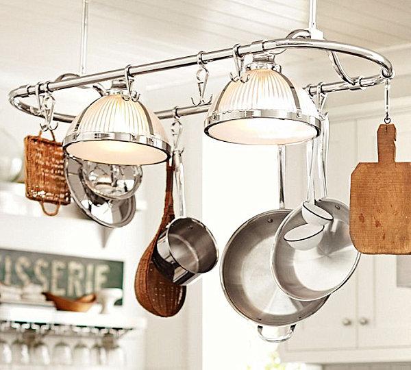 coole aufbewahrung ideen glänzende stahlablage für küchen utensilien
