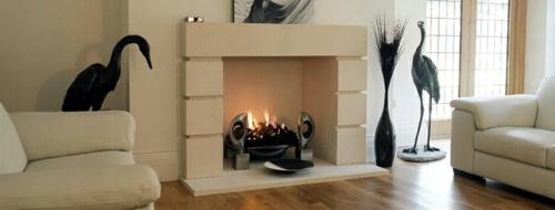coole deko ideen für kamine modern einrichtung sofas