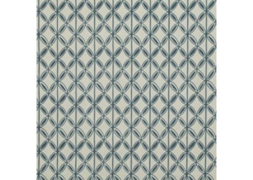 dekostoffe cottage stil design idee gemustert verziert  blau weiß