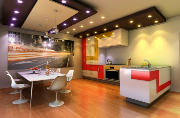 die farbgestaltung ihrer langweiligen küche extravagant