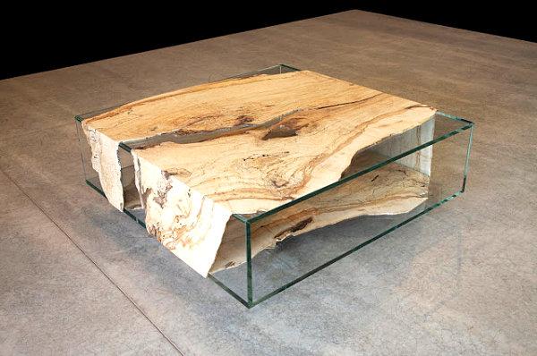 Couchtisch Holz Ausgefallen ~ möbelstücke aus gebrauchtem holz glastisch mit neu gebrauchtem holz