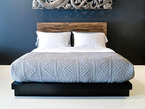 möbelstücke aus gebrauchtem holz niedriges doppelbett