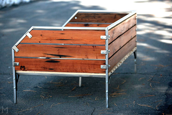 möbelstücke aus gebrauchtem holz schlichtes sofa aus kirschholz