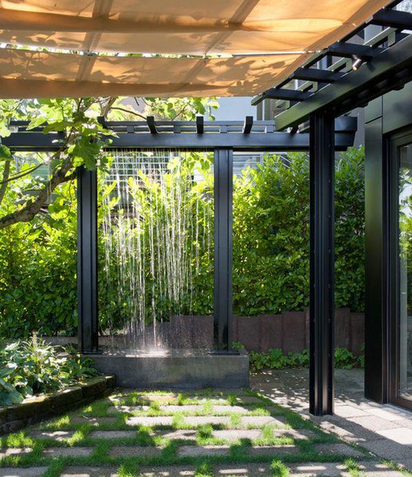 dusche draußen elegant originell idee pergola design gestaltung
