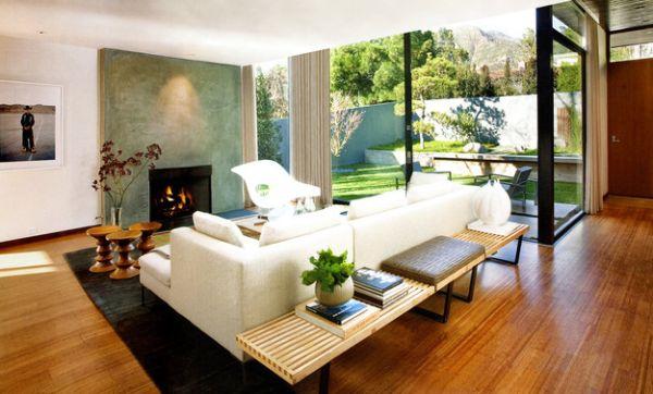 eames walnuss hocker und ellipse couchtisch zeitlose. Black Bedroom Furniture Sets. Home Design Ideas