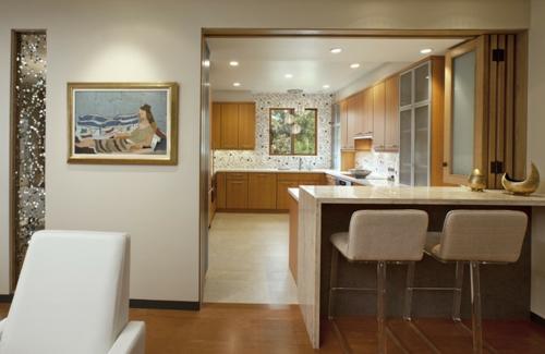 ein flexibles küchen design falttür und einbauleuchte