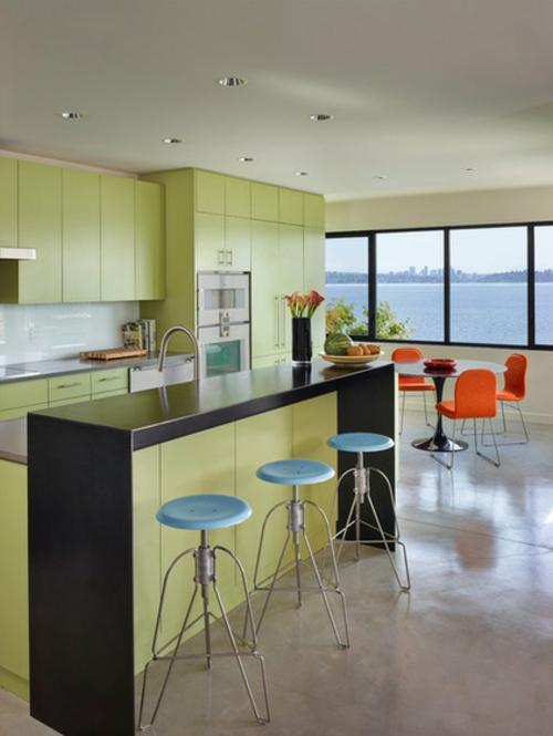 ein flexibles küchen design hell lime schranksystem