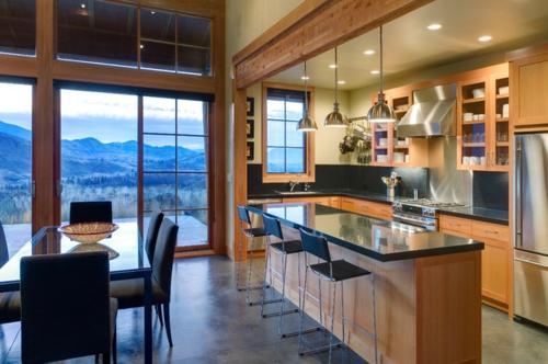 ein flexibles küchen design pendellampen im industriestil