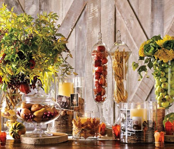 ein gemütliches zuhause elegante gläser voller leckereien