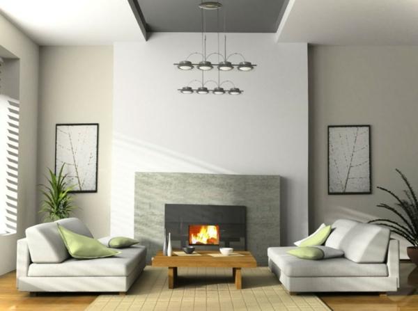 ein gemütliches zuhause niedrige elegante sofas und couchtisch