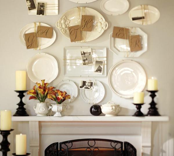 ein gemütliches zuhause weiße keramik wandteller
