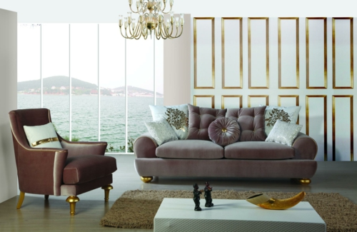 Elegante Wohnzimmer Möbel - attraktive Wohnideen