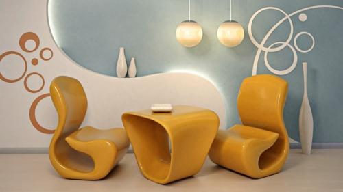 gelbe stühle wohnzimmer | möbelideen - Wohnzimmer Gelb Orange