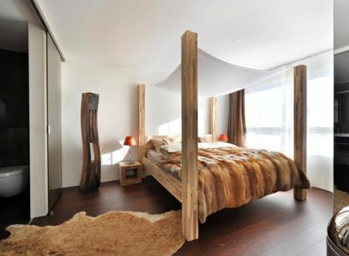 erstaunliche weiße Himmelbett Designs holz schlafzimmer