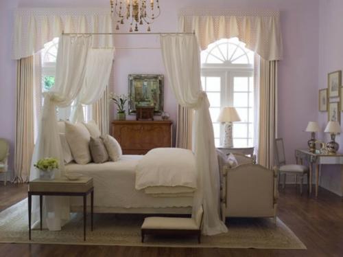 erstaunliche weiße Himmelbett Designs klassisch nachttisch elegant