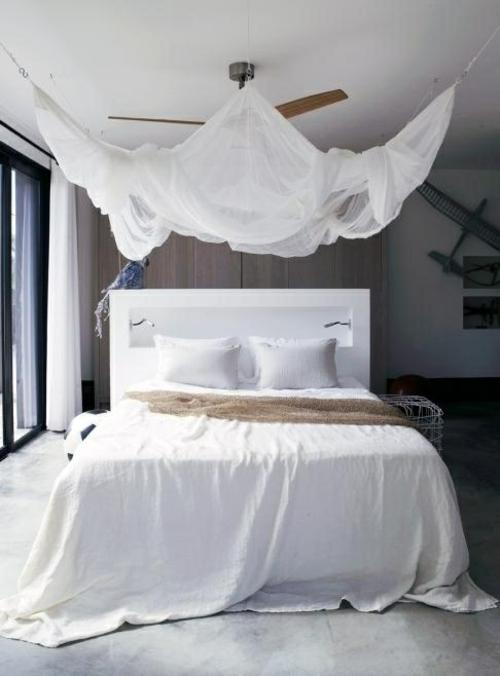erstaunliche weiße Himmelbett Designs luftig bettwäsche