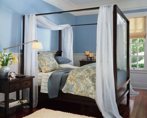 erstaunliche weiße Himmelbett Designs nachttisch holz bettwäsche