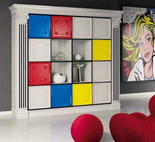 Elegante Farbgestaltung zu Hause leuchtend popart stil