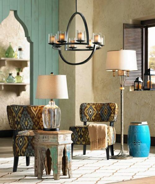 Elegante Farbgestaltung zu Hause orientalisch ornamente stühle