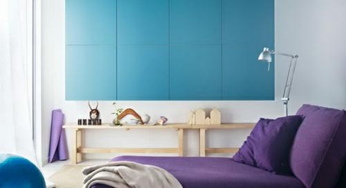 Elegante Farbgestaltung zu Hause pastell bett eingebaut