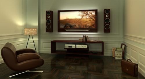 so wird der fernseher zum echten hingucker. Black Bedroom Furniture Sets. Home Design Ideas