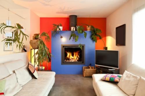 Wohnzimmer Kamin Fernseher : So wird der Fernseher zum echten ...
