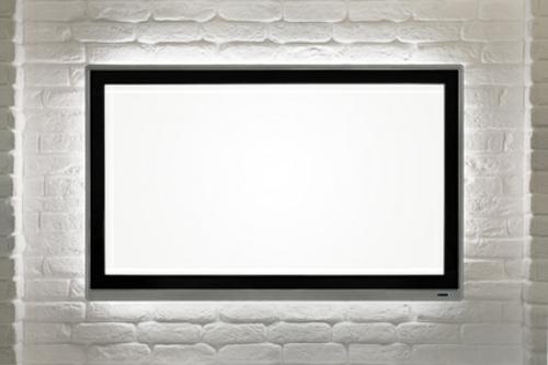 fernseher schneeweißer Bildschirm