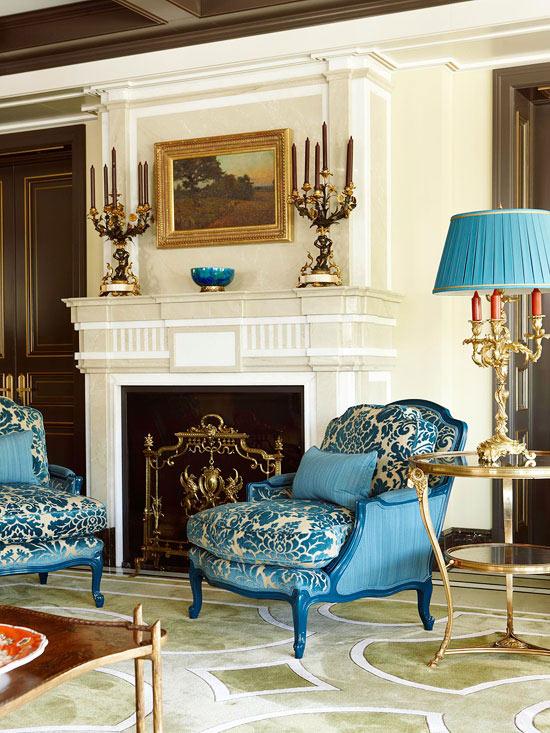 frisch und chic mit blau barock kerzenständer
