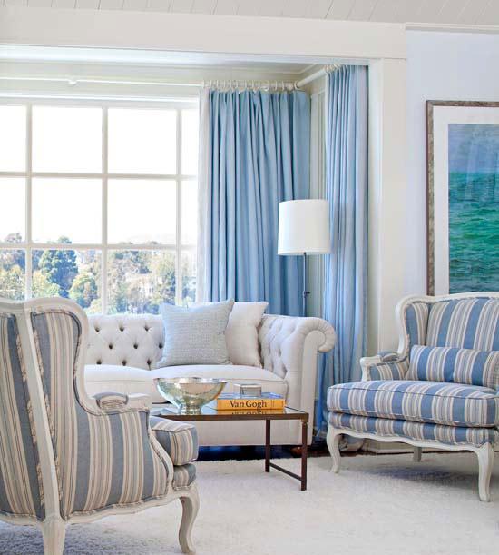 frisch und chic mit blau bequeme sessel geschreift weicher teppich
