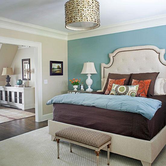frisch und chic mit blau feine bettbank mit goldenen ornamenten