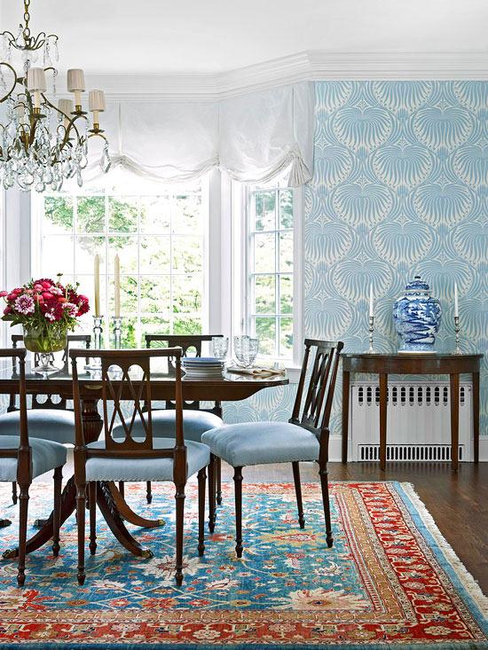 frisch und chic mit blau perser teppich