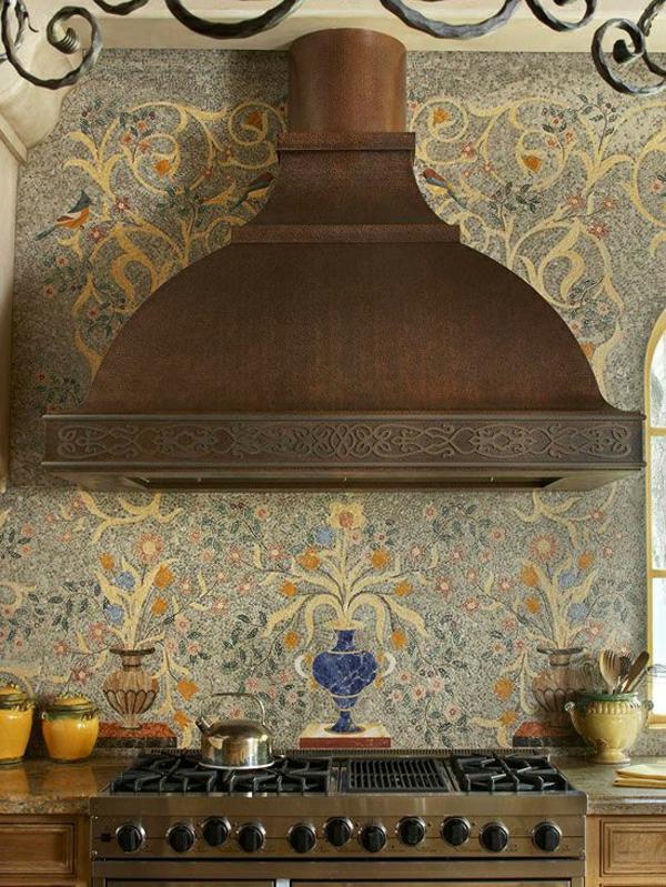 frische küchenrückwand ideen feine mediterranische mosaik