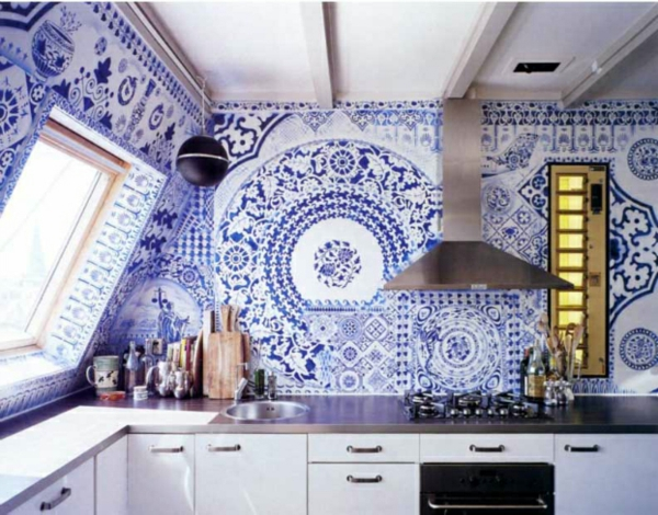 blue and white tiles kitchen frische k 252 chenr 252 ckwand ideen f 252 r sie 35 wundersch 246 ne designs 7933