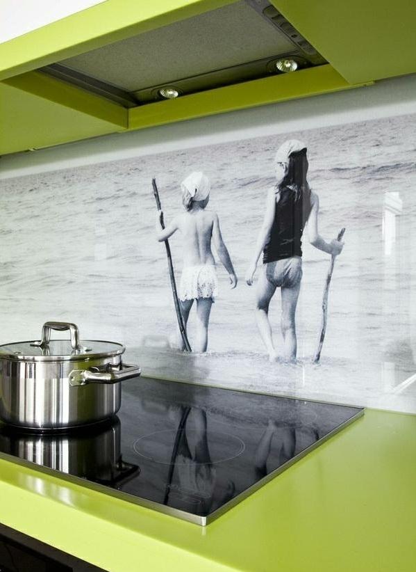 frische küchenrückwand ideen hd schwarzweißes foto