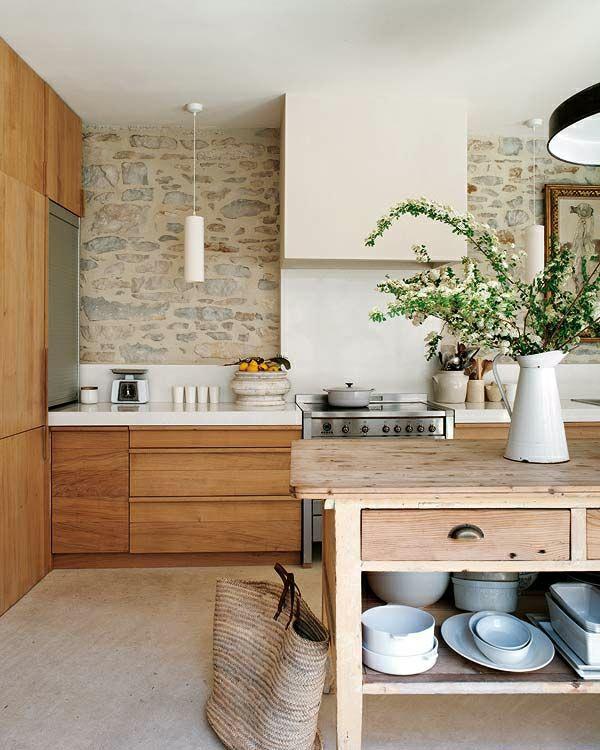 küchenrückwand ideen mauerwerk