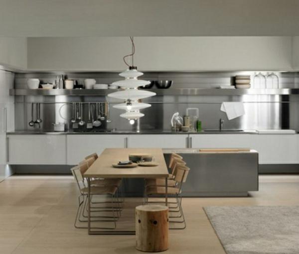 frische küchenrückwand ideen minimalistisch mit mattglanz