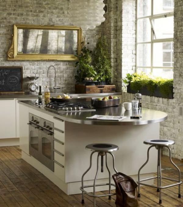 frische küchenspiegel ideen natursteinen wand