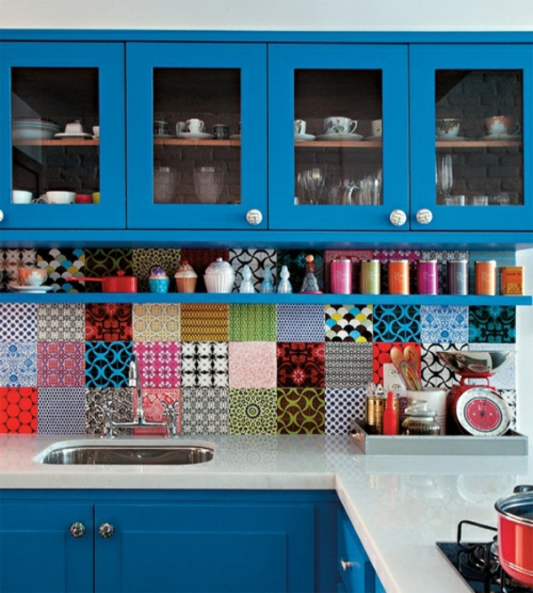 frische küchenrückwand quilt ähnliche fliesen