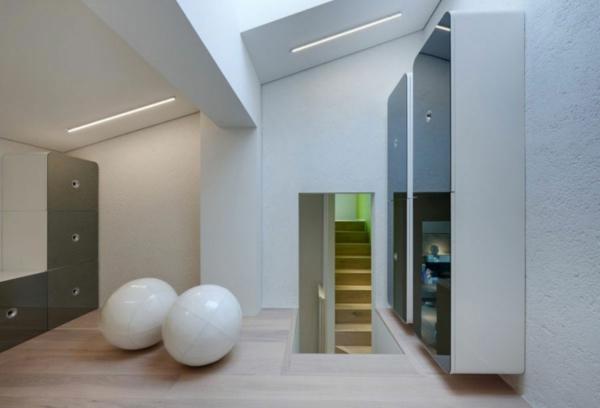 futuristische residenz geometrisches design mit großen kubgeln