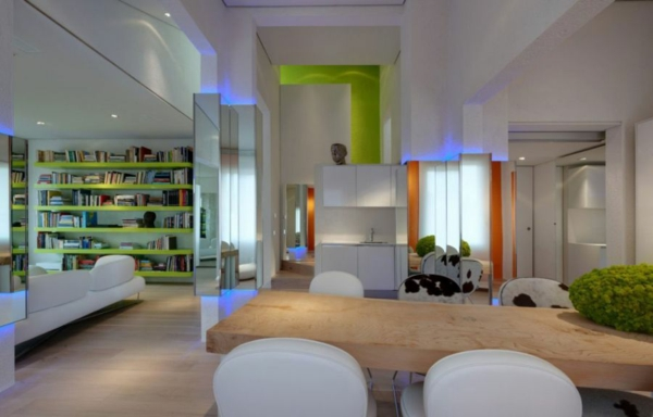 futuristische residenz minimalistisch und geradlinig