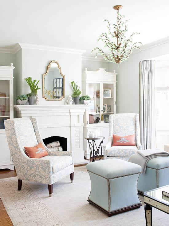 gewagte farbgestaltung für ihr wohnzimmer retro sessel und hocker in türkis