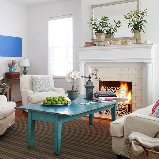 wohnzimmer türkis gelb:Gewagte Farbgestaltung für Ihr Wohnzimmer ...