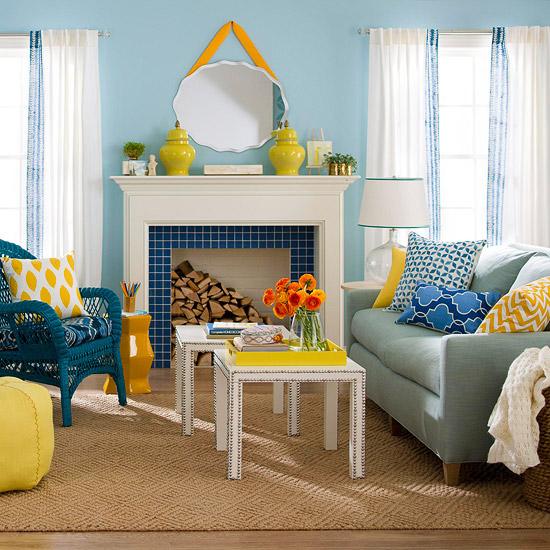 gewagte farbgestaltung für ihr wohnzimmer sisalteppich anregende akzente