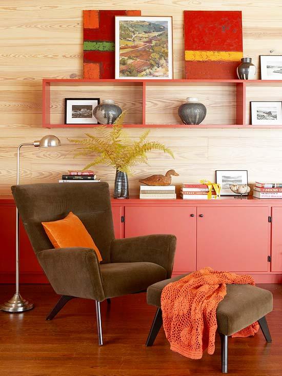 gewagte farbgestaltung für ihr wohnzimmer warme töne
