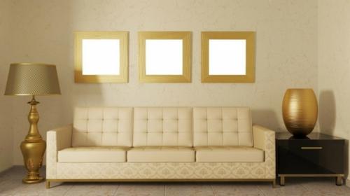 glamouröse interior elegante stehlampe quadratische spiegel