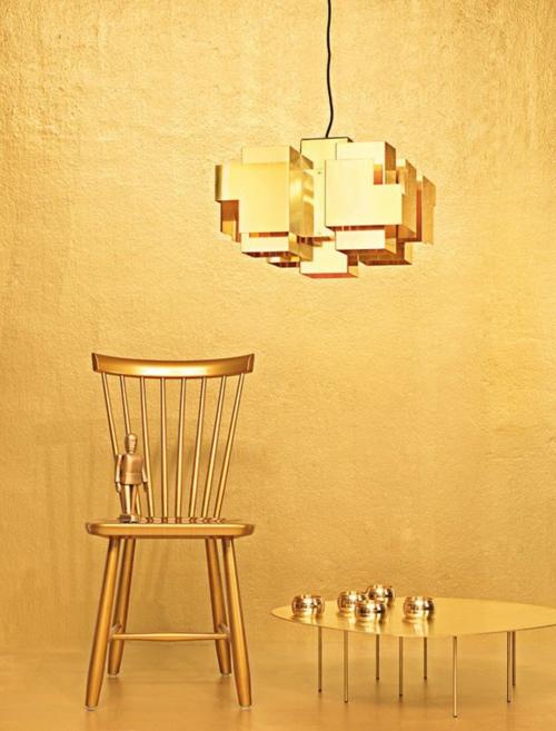 glamouröse interior ideen extrem viel glanz in gold