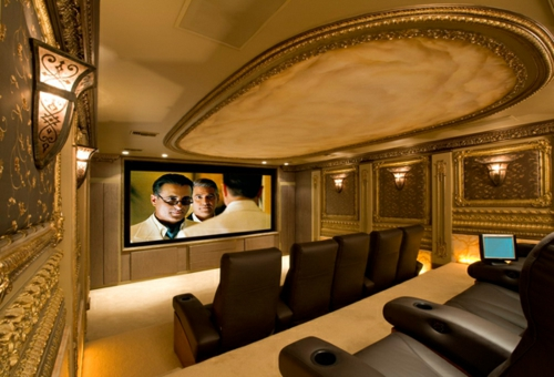 glamouröse interior ideen kinosalon im rokoko stil